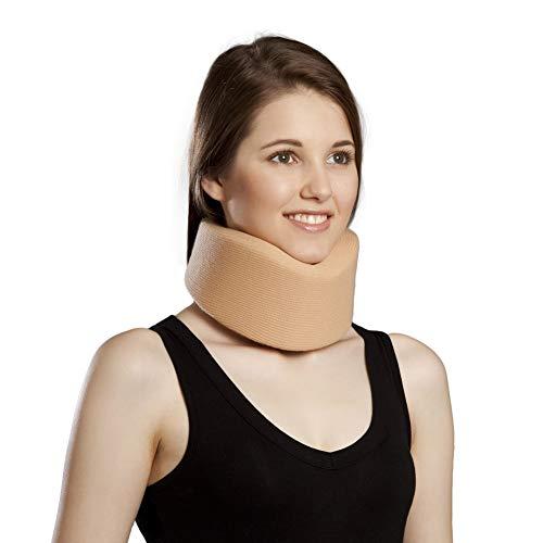 Cervical Neck Collar,Ergonomic Neck Support Brace for Men, Women and Sleeping,Neck Pain Relief (Beige, Medium)