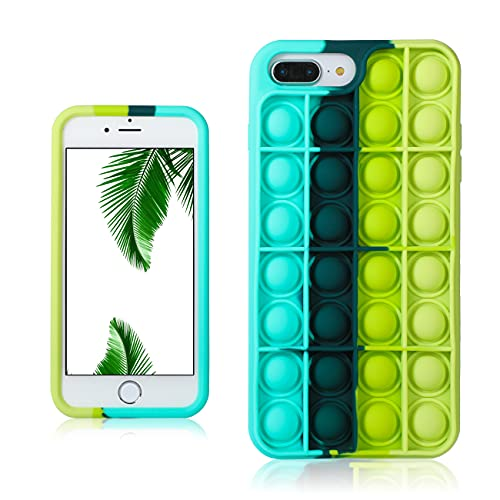 Besoar Black Green Fidget Caso per iPhone 6 Plus/6S Plus/7 Plus/8 Plus 5.5' Ragazzi Cover Carattere Fun Divertente Fantastico Ragazze Unico Bambini per iPhone 6/6S/7/8 Plus 5.5'