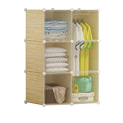 JIAWYJ XIAOJUAN Casual Locker Wardrobe Colgando Organizador Almacenamiento Plastic Withdoor Estantes Ropa Cubo Estufa Estacionamiento Dormitorio Casa (Tamaño: 7 6X47X147CM) (Size : 76X37X111CM)