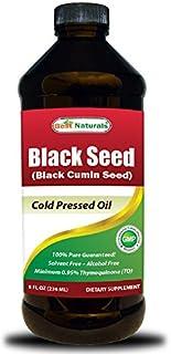 Best Naturals Black Seed Oil 8 OZ - Cold Pressed Black Cumin Seed Oil from 100% Genuine Nigella Sativa
