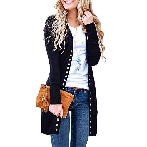 ATOUR Pullover, für Damen, langärmelig, weich, Basic Strick, einfarbig - Schwarz - Mittel