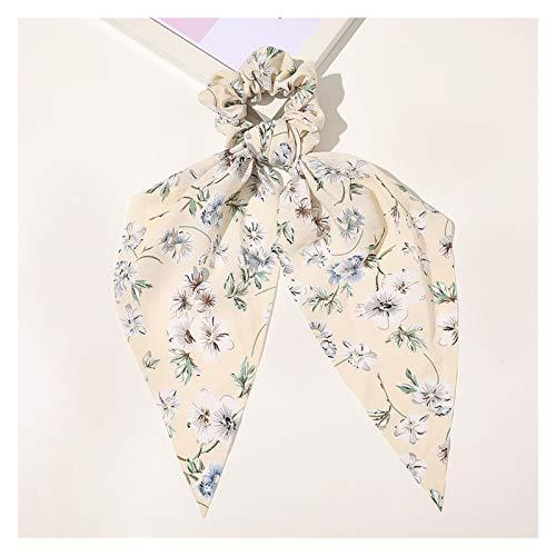 KXLB Banda de Pelo Pattan Floral Bow Hair Pein Hermosa Cuello de Pelo con Cuerda de Goma Diadema de Las Mujeres (Color : 21)