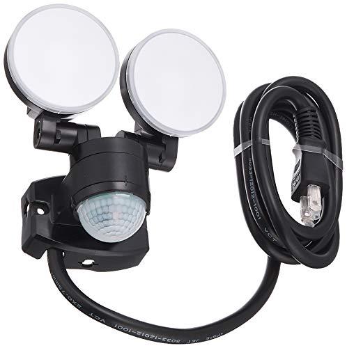 朝日電器 ELPA エルパ コンセント式 センサーライト 2灯 お手軽タイプ 省エネ 安心の防水仕様 ESL-SS412AC 白色LED