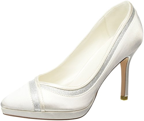 Menbur Wedding Damen Felicidad Pumps, Elfenbein (Ivory), 38 EU
