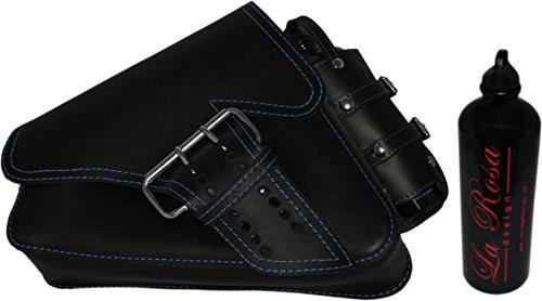 La Rosa Design 04-UP H- D Sportster/Nightster/883 Iron/XL1200 Left Side Saddle Bag/Swingarm Bag with Fuel Bottle