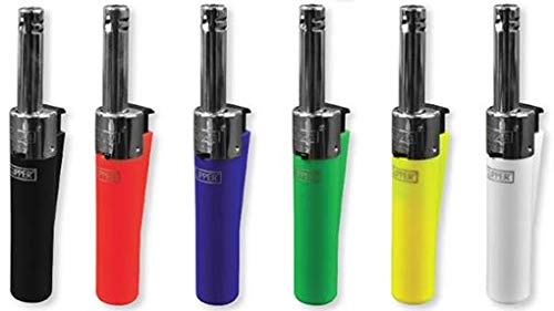 "6 Clipper Electronic Mini Utility Tube Lighters Refillable 4.5"" Tall"