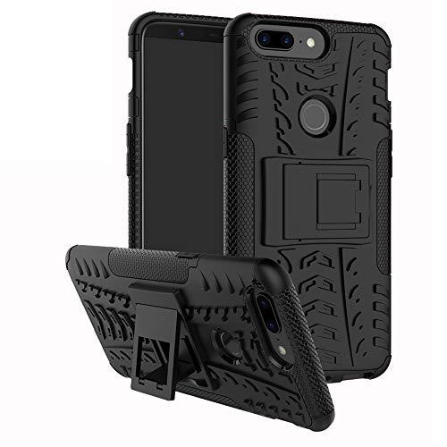 LFDZ Oneplus 5T Tasche, Hülle Abdeckung Cover schutzhülle Tough Strong Rugged Shock Proof Heavy Duty Hülle Für Oneplus 5T Smartphone (mit 4in1 Geschenk verpackt),Schwarz