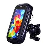 Aestdo Waterproof Phone Holder Bag with Phone Stand for Bicycle and Motorcycle, 360