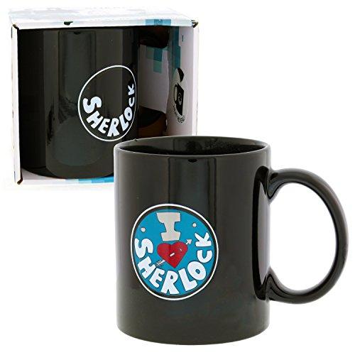 Sherlock Holmes Mug - I Heart Sherlock Heat Reveal Coffee Cup - BBC Show Licensed by Underground Toys
