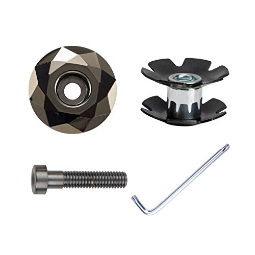 PLATT Tappo Serie Sterzo per Bicicletta in Lega di Alluminio con Dado Star Nut,Tappo per Gambi Manubrio da Bicicletta 1-1/8' (28.6mm)