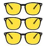 Gaoye 3-Pack Night Driving Glasses, Anti Glare Night Vision...