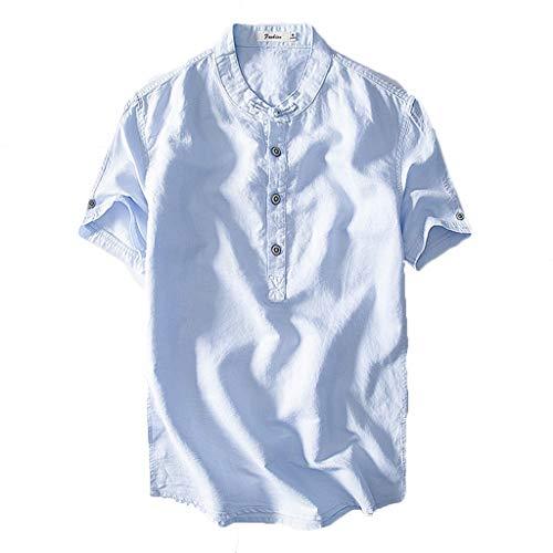 Routinfly Herren Freizeit T-Shirt Fly Freizeitmode Kurzarm Gerade Kragen Einfarbig T-Shirt Herrenbluse Herren T-Shirt Herrenhemden T-Shirts Kurzarm Tops M-3XL