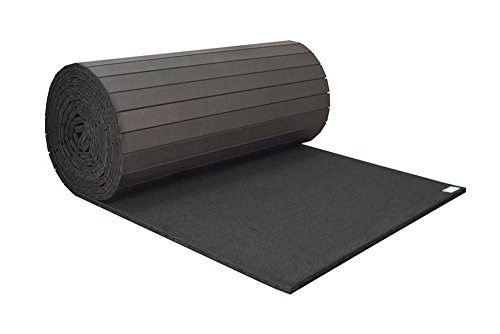 IncStores Home Cheer Carpet Top Mats Roll Out Practice Pad (Black, 3'x6'x1 3/8″)