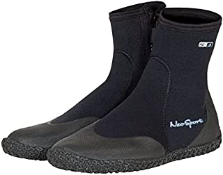 Neo Sport Premium Neoprene Men & Women Wetsuit Boots, Shoes with puncture resistant sole 3mm, 5mm & 7mm for warm, moderate or cold water for watersports: beach, boat, lake, mud, kayak and more! Sizes 4 - 16