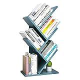 JKGHK Estantería de árbol de Madera para Escritorio, estanterías pequeñas, estantes de Escritorio Fuera de la Superficie, Estante de Almacenamiento de Oficina en casa, para CD, revistas, Libros, etc.