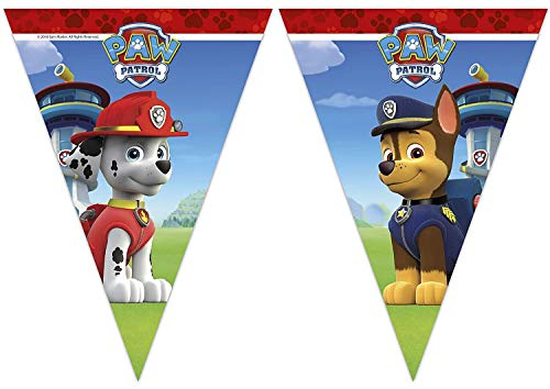 Procos - Banderines para fiesta, diseño de la Patrulla Canina, multicolor, PR89507