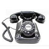 Hesily Teléfono Fijo con Cable con botón pulsador...