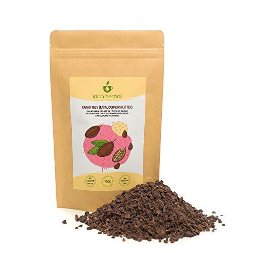 Kakaonibs (250g), rohe Kakao Nibs, 100% naturrein, Kakaobohnen in Stücken, unbehandelt, vegan