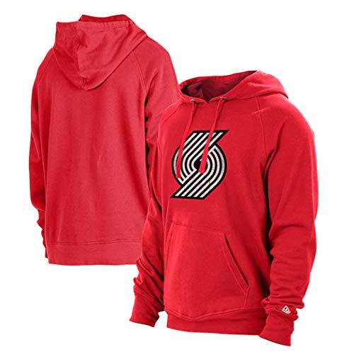 Suéter de Camiseta de Baloncesto para Hombre, Deportes Ocasionales Letter de la Juventud Sudadera con Capucha y otoño,XL