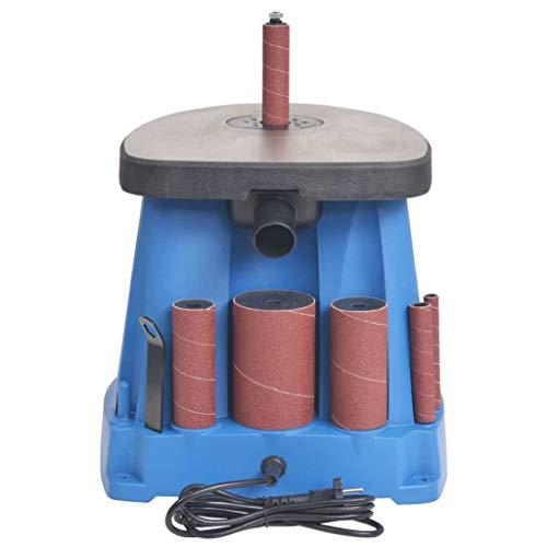 vidaXL Ponceuse à Axe Oscillant 450 W Bleu Outil de Ponçage Meuleuse Bois