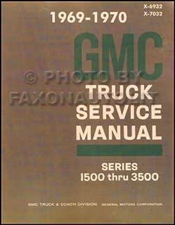 1969 1970 GMC TRUCK & PICKUP REPAIR SHOP & SERVICE MANUAL Includes 1500, 2500, 3500, C, K, P, Fenderside, Wideside, Sierra,Grande, Custom, Super, panel, 3+3 crew cab, bonus cab