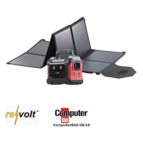 reVolt Solar-Powerbanks 12V: Powerbank & Solar-Konverter mit faltbarem 100-Watt-Solarpanel, 60 Ah (Notstromaggregate Solar)