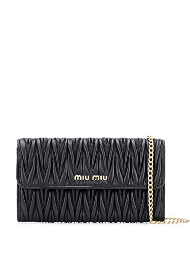 miu miu Luxury Fashion Donna 5MT060N88F0002 Nero Pelle Pochette | Autunno-inverno 20