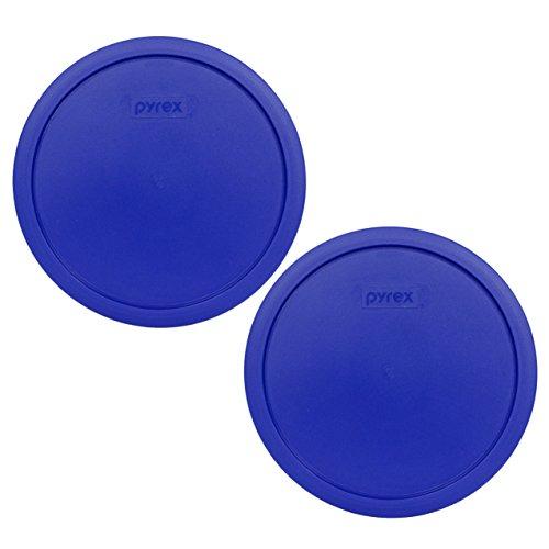 Pyrex 7403-PC Cobalt Blue 10 Cup (2.5qt) Sculptured Mixing Bowl Lid - 2 Pack