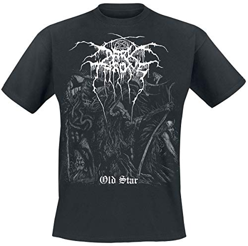 Darkthrone Old Star Männer T-Shirt schwarz L 100% Baumwolle Band-Merch, Bands