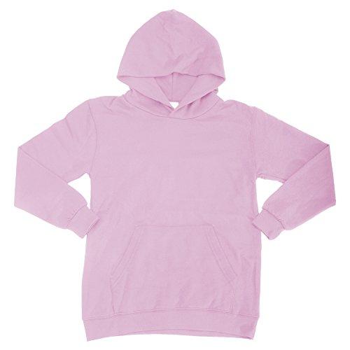 SG - Sudadera básica con Capucha Modelo Sweatshirt Unisex niños niñas (11-12 años) (Rosa)