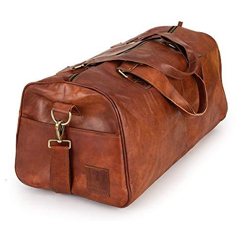 Berliner Bags Berliner Bags Weekender Oslo Reisetasche aus Leder Damen Herren Braun Groß 45l