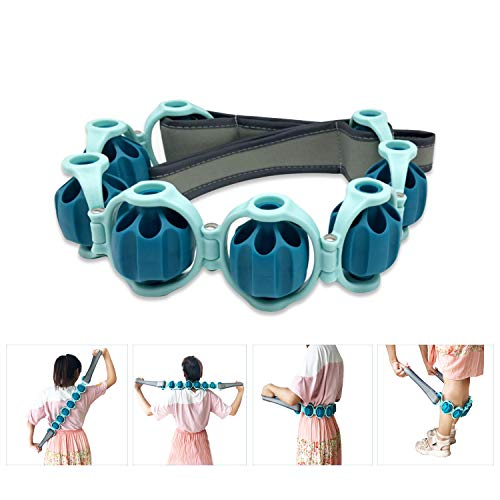 Portable Body Massage Roller Rope,Ball Shoulder Massager for Upper Back, Lower Back, Thighs, Legs and Calves - Relief Muscle Soreness, Tightness, Leg Cramps & Back Pain