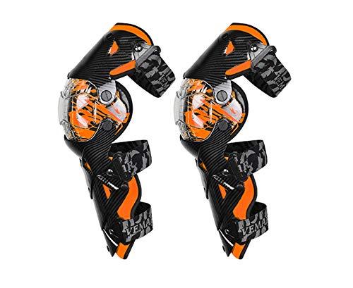 YDL Cojines De Rodilla De Motocicleta Seguridad Moto Protección Motocross Equipo Naranja Scooter Pierna Cubierta De Pierna Rodilla Calientes para Hombre 8 Colores (Color : E 18 OG Knee Pads)