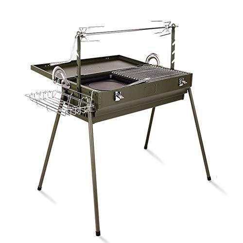 OMJNH BBQ Grill, Thicken Outdoor Draagbare Grill Kolen Grill Multifunctionele Camping Grill, geschikt voor buitenactiviteiten
