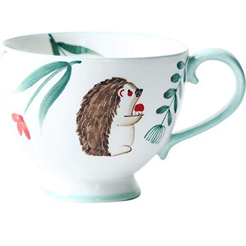 ZZLLFF Estilo nórdico Retro Pintado a Mano de cerámica de cerámica Taza de té de Taza de Desayuno Taza Taza Taza Taza Taza de Agua Pintada a Mano Taza de Agua (Color : 5)