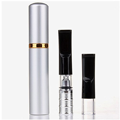 Sukragraha Premium Reusable Reduce Tar Smoke Cigarette Holder Tobacco Filter Cleaner Silvery