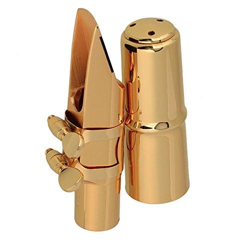 Yibuy placcato in oro, 6-Bocchino per sassofono per sassofono contralto in mi bemolle