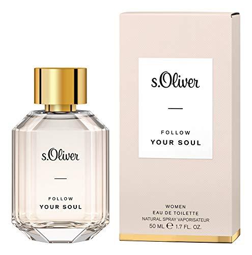 s.Oliver® Follow Your Soul Women | Eau de Toilette - feminin & blumig - perfektes Accessoire für Damen mit stilvollem Auftritt | 50 ml Natural Spray Vaporisateur
