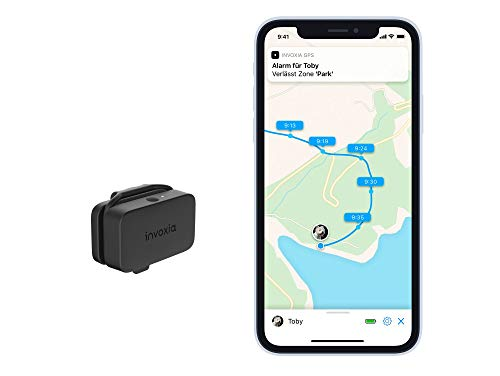 Invoxia Localizzatore GPS per Cani e Gatti & monitoraggio delle attività-Abbonamento Incluso-Lunga autonomia-Piccolo e Leggero, Nero