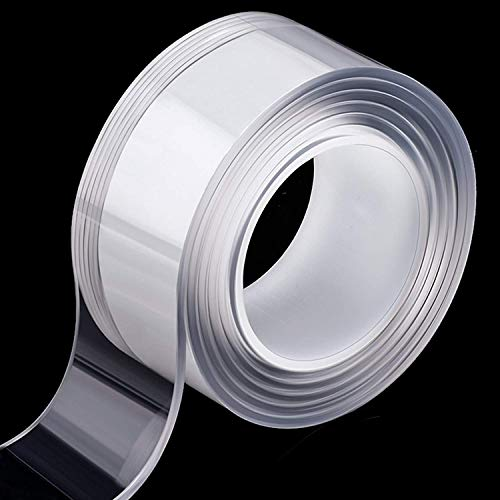 両面テープ 超強力多機能テープ 魔法テープ カーペットテープ のり残らず はがせるテープ 透明 防水 繰り返し使える 滑り止めテープ 洗濯可能 耐熱 粘着マット家庭 オフィス 寮 学校 会社 工業用 地震防止 屋内 屋外 車輛用 (3m)