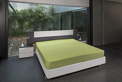 Bsensible Tencel Drap housse protecteur pour lit articulé au tête Vert pistache 70+70 x 190