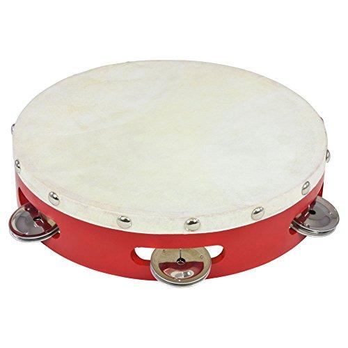 Percussion Plus PP040 Tambourine with Goatskin Head - 8'