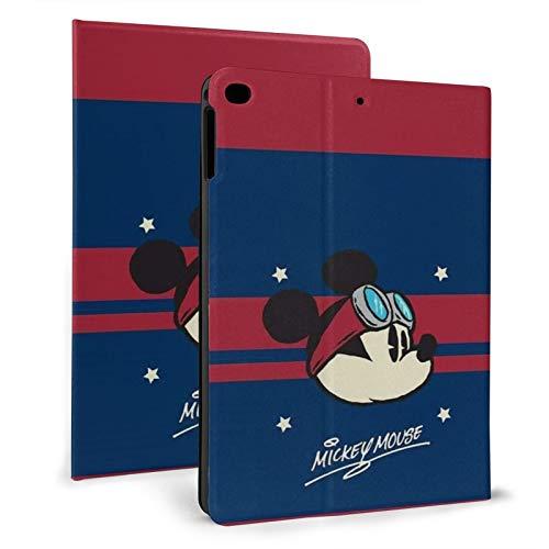 Funda para iPad Pro 9.7 Mickey Mouse Púrpura iPad Flip Cover es adecuado para 6ª/5ª, generación con Auto Sleep/Wake Ultra Slim Ligero Stand Funda de Cuero