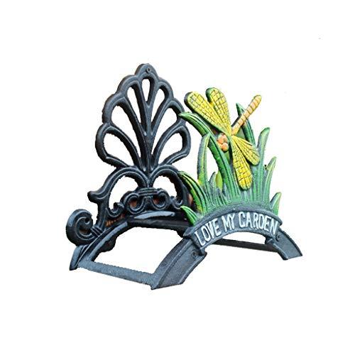 YUSHRO Soporte De Manguera, Hierro Fundido Tarea Pesada Montado En La Pared Retro Tubería De Agua Apoyo para Jardín Patio Decorativo (Color : B)