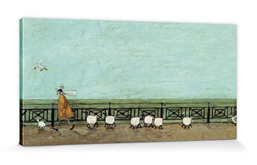 1art1 Sam Toft - Mr Mustard Und Doris, Moses Folgt Dem Picknickkorb Bilder Leinwand-Bild Auf Keilrahmen | XXL-Wandbild Poster Kunstdruck Als Leinwandbild 100 x 50 cm