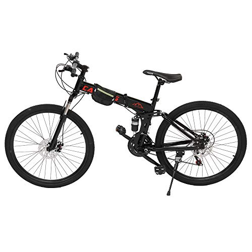 Mountain Bike Steel Frame 26-Inch 21 Speed Double Disc Brake Folding Mountain Bike Bicycle