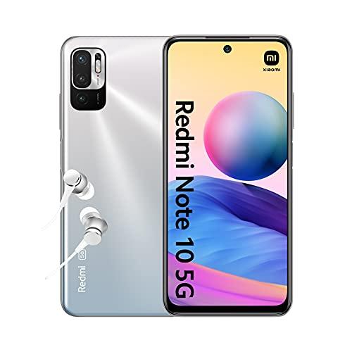 "Redmi Note 10 5G - Smartphone 4+128GB, 6.5"" Écran DotDisplay 90Hz AdaptiveSync, MediaTek Dimensity 700, Triple caméra, 5000mAh, Argent chromé (Version Française + 2 Ans de Garantie)"