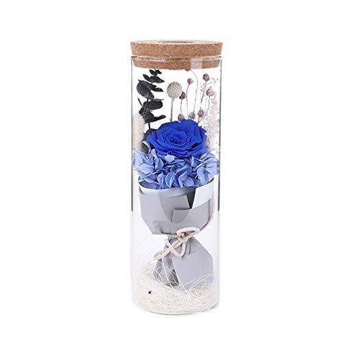 Uonlytech Eterna Botella de Deseo Rosa Preservada Ramo de Flores Sombr