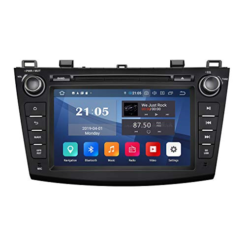 2020 Car Stereo Double Din Car Stereo, Android Car Radio Eonon Android 9 Car Stereo Applicable to Mazda 3 Series Support Apple Carplay/Android Auto/Fast Boot/DVR/Backup Camera/OBDII -8 Inch -GA9363