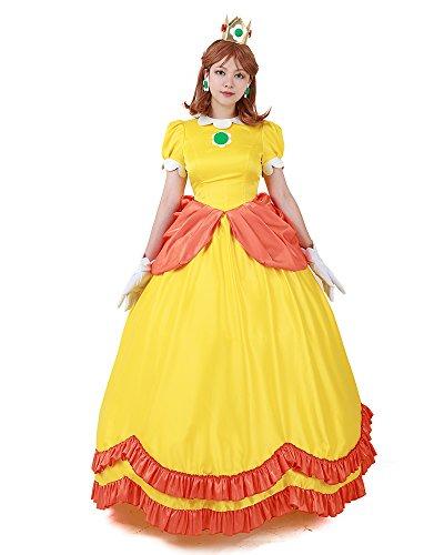 Miccostumes Damen prinzessin gänseblümchen cosplay-kostüm-kleid frauen l gelb
